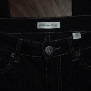 NWOT Coldwater Creek Black Jeans Size 10